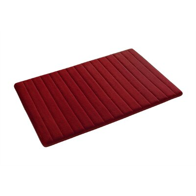 Gouverneur Reversible Memory Foam Bath Rug Size: Small, Color: Red/Tan