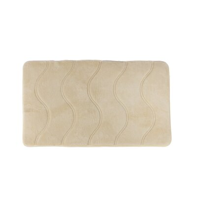 Greenburgh Memory Foam Bath Rug Size: 21 W x 34 L, Color: Beige
