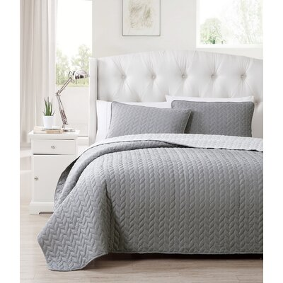 Bradbury 3 Piece Reversible Coverlet Set