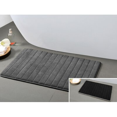 Gouverneur Reversible Memory Foam Bath Rug Size: Medium, Color: Gray/Black