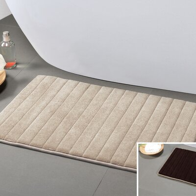 Gouverneur Reversible Memory Foam Bath Rug Size: Small, Color: Mocha/Chocolate