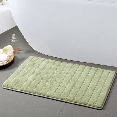 Gouverneur Reversible Memory Foam Bath Rug Size: Small, Color: Sage/Chocolate
