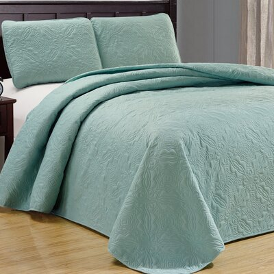 Browning 3 Piece Reversible Quilt Set Color: Spa Green
