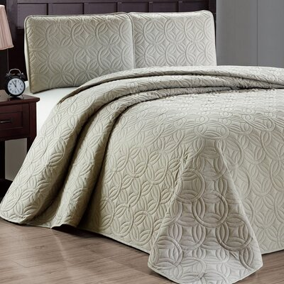 Minta 3 Piece Reversible Quilt Set Color: Taupe