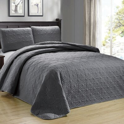 Minta 3 Piece Reversible Quilt Set Color: Gray
