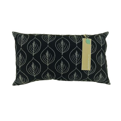 Candlewood Leaf Embroided 100% Cotton Lumbar Pillow