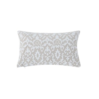 Askew Laser Cut Linen Lumbar Pillow