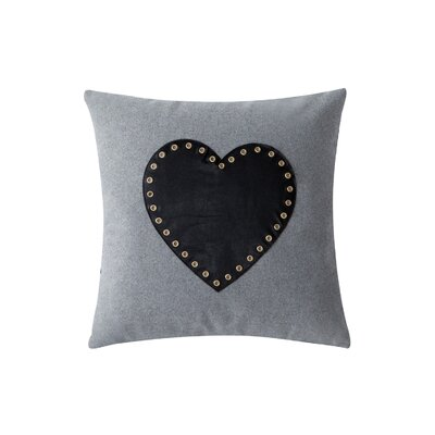 Gavere Heart Felt 100% Cotton Throw Pillow