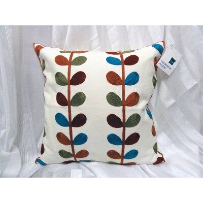 Chadwick Embroided 100% Cotton Throw Pillow
