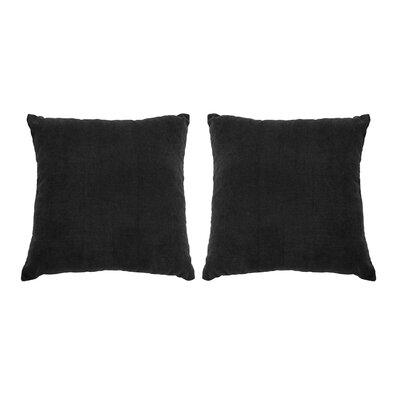 Ermont Decorative Throw Pillow Set Color: Black