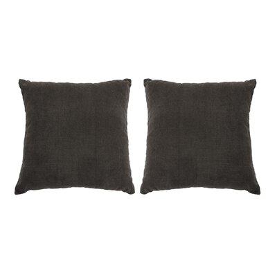 Ermont Decorative Throw Pillow Set Color: Charcoal