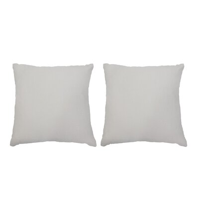Ermont Decorative Throw Pillow Set Color: Ivory