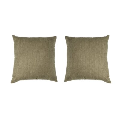 Ermont Decorative Throw Pillow Set Color: Taupe