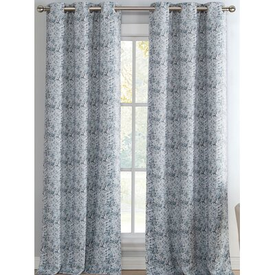 House of Hampton Valentina Toile Blackout Thermal Grommet Curtain Panels