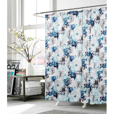 Deborah Shower Curtain Color: Blue