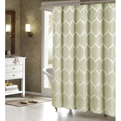 Holcomb Wrinkle Wave Fabric Shower Curtain Color: Sage