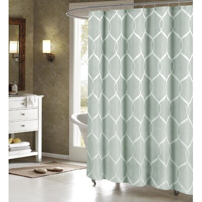 Holcomb Wrinkle Wave Fabric Shower Curtain Color: Blue