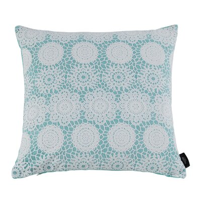 Jones 100% Cotton Throw Pillow Color: Mint Splash