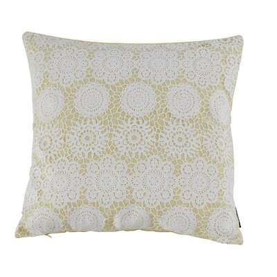 Jones 100% Cotton Throw Pillow Color: Palm Lime