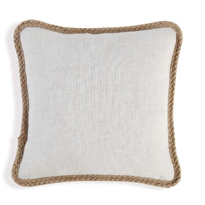 Booth Throw Pillow Color: Linen
