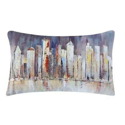 Saul Skyline 100% Cotton Lumbar Pillow