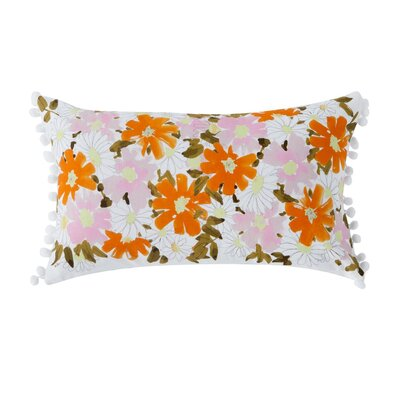 Atwell Floral 100% Cotton Lumbar Pillow