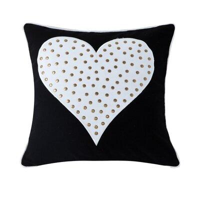 Swinton Heart Studded Throw Pillow