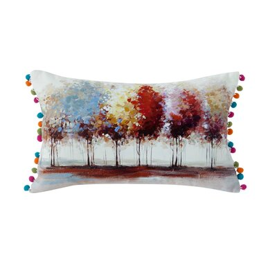 Austell Tree 100% Cotton Lumbar Pillow