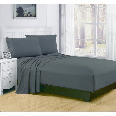 Elderton 4 Piece Sheet Set Color: Mirage Gray