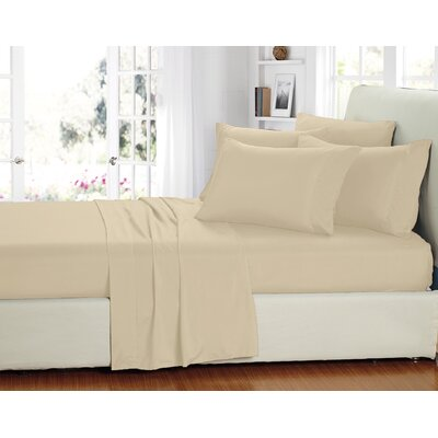 Stevens 6 Piece Sheet Set Size: Full, Color: Cream