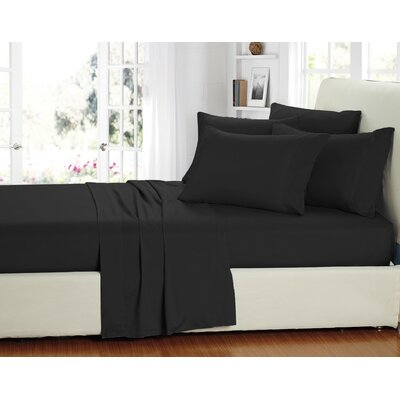 Stevens 6 Piece Sheet Set Size: King, Color: Black