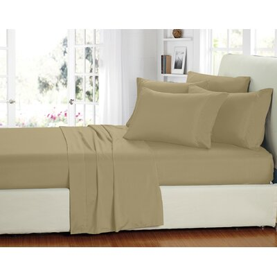 Stevens 6 Piece Sheet Set Size: King, Color: Khaki