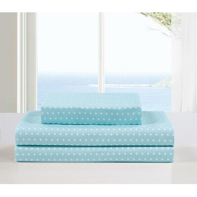 Dale 3 Piece Sheet Set Color: Aqua