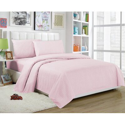 Daniella Sheet Set Color: Pretty Pink, Size: Full