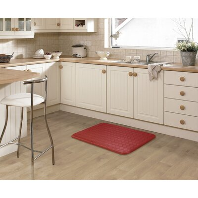 Kipp Basket Weave Kitchen Mat Color: Red