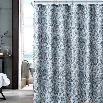Galya Shower Curtain Color: Blue/Gray