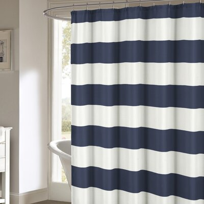 Ivanna Shower Curtain Color: Navy