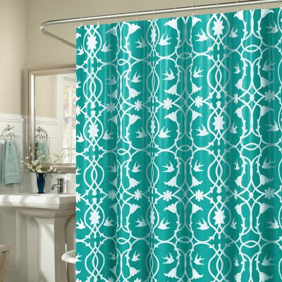Laureldale 13 Piece Shower Curtain Set Color: Aqua Blue