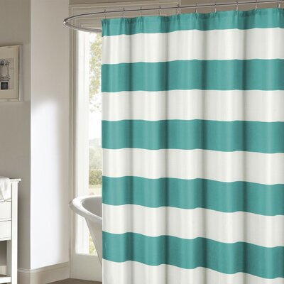 Ivanna Shower Curtain Color: Teal