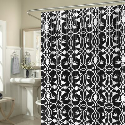 Laureldale 13 Piece Shower Curtain Set Color: Black