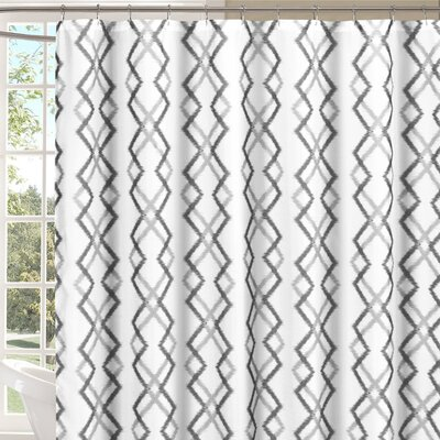 Groh Flocking Reversible Shower Curtain Color: Gray/White