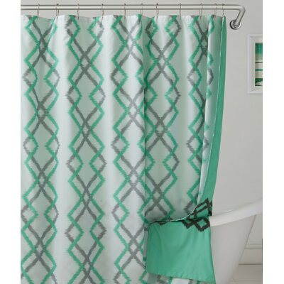 Groh Flocking Reversible Shower Curtain Color: Sea Foam/Gray