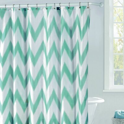 Raye Shower Curtain Color: Teal