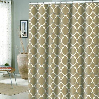 Hoffmann Microfiber Rio Shower Curtain Color: Tannin