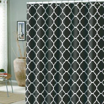 Hoffmann Microfiber Rio Shower Curtain Color: Caviar