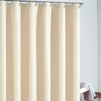 Berna Diamond Shower Curtain Color: Champagne