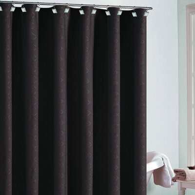 Berna Diamond Shower Curtain Color: Chocolate