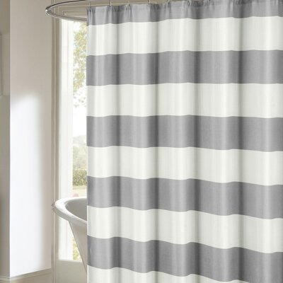 Ivanna Shower Curtain Color: Gray