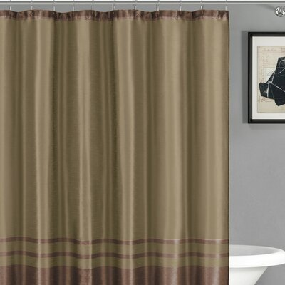 Alleyton Shower Curtain Color: Chocolate