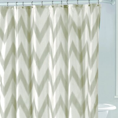 Raye Shower Curtain Color: Taupe